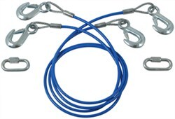 "RoadMaster 64"" Double Hook, Straight Safety Cables - 6,000 lbs"