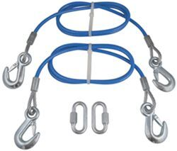 "RoadMaster 64"" Double Hook, Straight Safety Cables - 8,000 lbs"