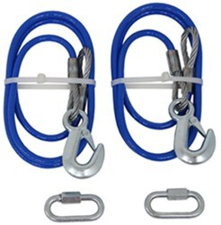 "RoadMaster 64"" Single Hook, Straight Safety Cables - 8,000 lbs"