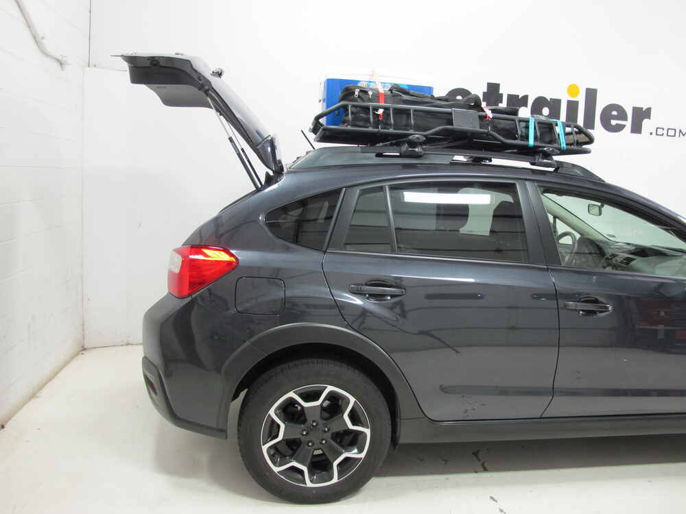 2014 subaru xv crosstrek rhino rack roof mounted steel cargo basket 57 quot long x 42 quot wide 165 lbs