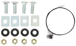 Replacement Hardware for Reese Quick-Install Custom Bracket Kit for 5th Wheel Trailer Hitches