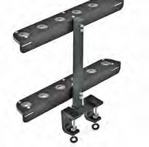 Reese Towpower TransRACK Shovel Rack for Open Utility Trailers or Truck Beds