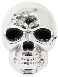 "Skull LED Lighted Trailer Hitch Cover - 1-1/4"" and 2"" Hitches - Chrome"