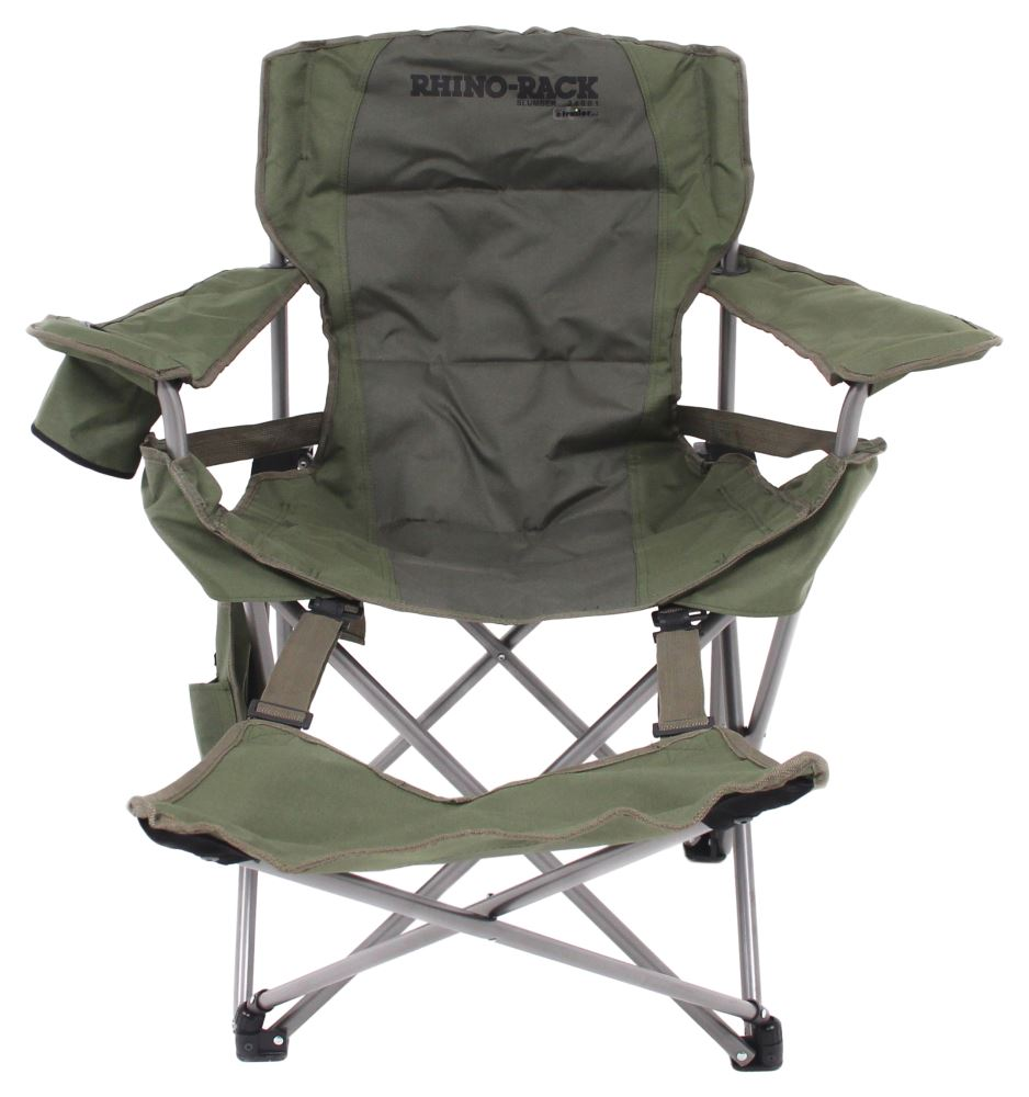 rhino rack slumber camping chair with footrest foldable rhino rack patio accessories rr34001. Black Bedroom Furniture Sets. Home Design Ideas