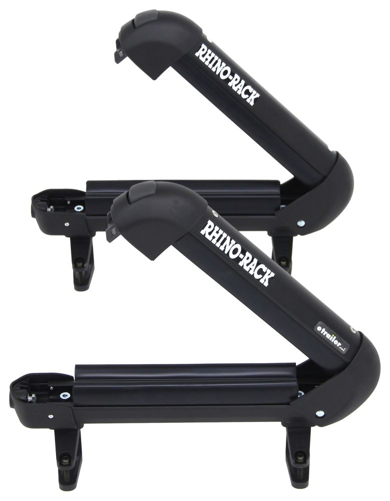Rhino rack ski and fishing rod carrier locking 2 skis for Fishing rod roof rack