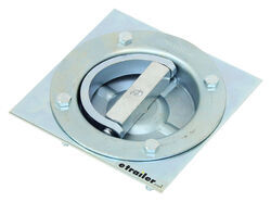 Brophy Swiveling D-Ring Anchor w Backing Plate and Hardware - Bolt-On - Recessed Mount - 2,000 lbs