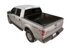 PowertraxPRO Hard Tonneau Cover - Stake Pocket Cutouts - Powered - Retractable - Aluminum - Glossy