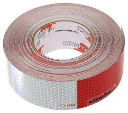"Optronics 6"" Long Silver/ 6"" Long Red Conspicuity Reflective Tape - 150'"