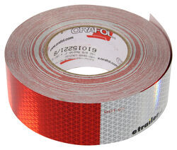 "Optronics 6"" Long Silver/ 6"" Long Red Conspicuity Reflective Tape - 150' - Perforated"