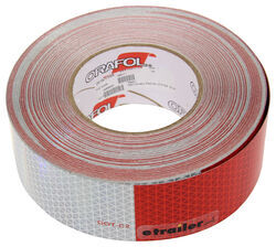 "Optronics 7"" Long Silver/ 11"" Long Red Conspicuity Reflective Tape - 150' - Perforated"