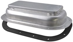 Redline 2-Way Pop-Up Roof Vent with Garnish for Enclosed Trailers - Aluminum