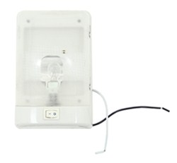RV Euro Style Interior Single Ceiling Light with Built-In Switch