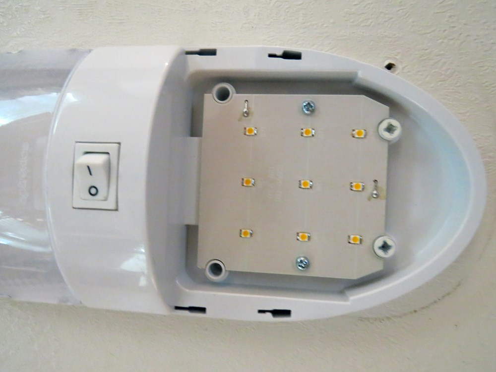 optronics led rv interior light with switch 18 diode. Black Bedroom Furniture Sets. Home Design Ideas
