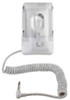Portable RV Interior Light - Coil Cord, Male Plug, On/Off Switch - Euro Style - Single - White