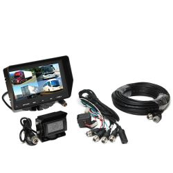 Rear View Safety Backup Camera System - Quad View Monitor