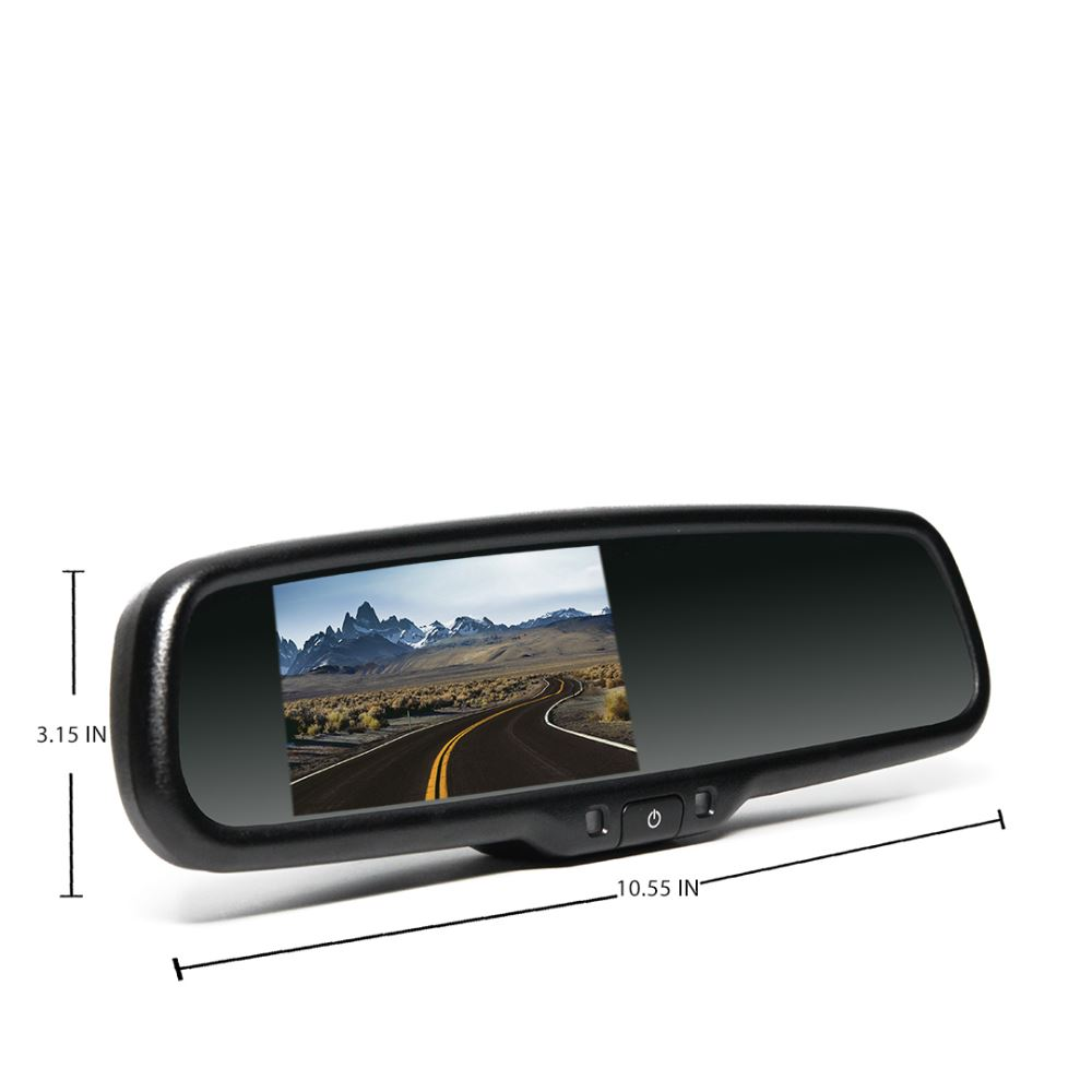 rear view safety rear view mirror with monitor 4 3. Black Bedroom Furniture Sets. Home Design Ideas