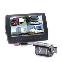 Rear View Safety Backup Camera System - Weatherproof Monitor - Quad View