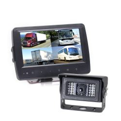 Rear View Safety Backup Camera System - Heated Camera - Weatherproof Monitor - Quad View
