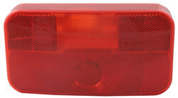 RV Tail Light - Stop, Tail, Turn - Rectangle - Red Lens - Passenger Side - White Base
