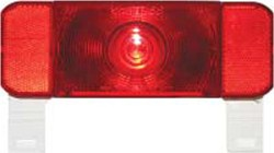 Low Profile RV Combination Tail Light - Driver's Side - LED w/White Base and Mounting Bracket