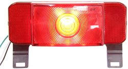 ONE LED RV Tail Light - Stop, Tail, Turn, License Plate - Red Lens - Driver Side - Black Base