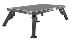 "Adjustable-Height, Folding Platform Step - Steel - 24"" Long x 16"" Wide - 300 lbs"