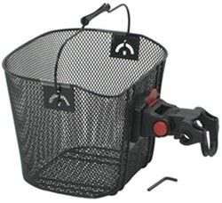 Front Cargo Retro Bike Basket with Deluxe Quick Release Bracket