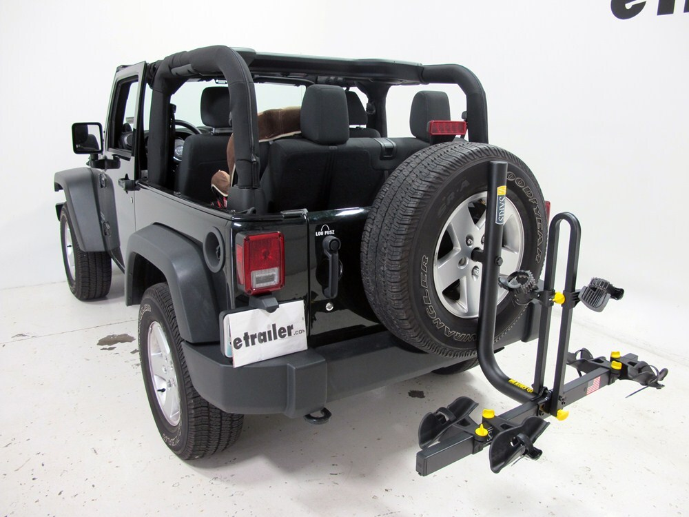 Bike Rack For Jeep Renegade >> 2012 Jeep Wrangler Saris Freedom 2 Bike Rack - Platform Style - Spare Tire Mount