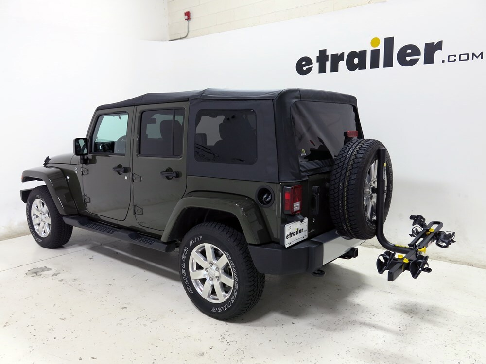 2016 Jeep Wrangler Unlimited Spare Tire Bike Racks Saris