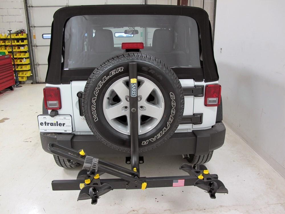 jeep wrangler saris freedom 2 bike rack platform style. Black Bedroom Furniture Sets. Home Design Ideas