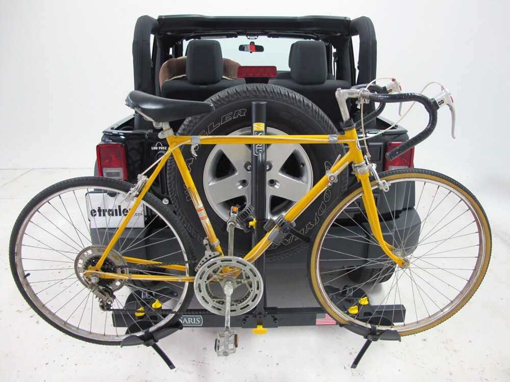 2013 Jeep Wrangler Saris Freedom 2 Bike Rack Platform