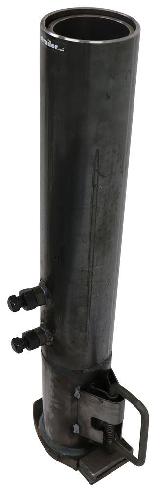 Gooseneck Hitch Coupler : Round gooseneck coupler with quot adjustable height