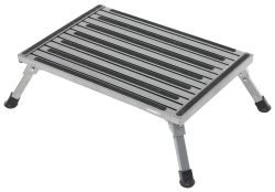 "Safety Step Folding Platform Step - Aluminum - 24"" Long x 16"" Wide - 1,000 lbs - Granite"