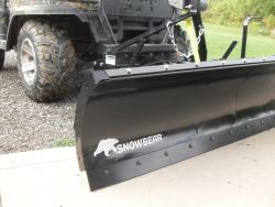 "SnowBear UTV Snowplow for 2"" Hitches - Electric Winch - 72"" Wide x 19"" Tall"