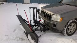 "SnowBear Proshovel Snowplow for 2"" Hitches - Electric Actuator - 82"" Wide x 19"" Tall"