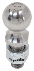 "2"" Hitch Ball - 1"" Diameter x 2-1/8"" Long Shank - Stainless - 7.5K"