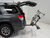 2012 toyota 4runner hitch bike racks kuat platform rack fits 2 inch sherpa 2.0 2-bike - hitches tilting aluminum gray