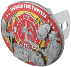 Firefighter Collage Trailer Hitch Receiver Cover