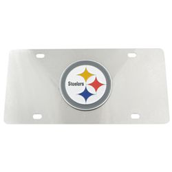 Pittsburgh Steelers NFL Stainless Steel License Plate