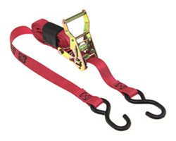 "Snap-Loc Ratchet Tie-Down Strap w/ Strap Wrapper and S-Hooks - 1"" x 8' - 833 lbs"
