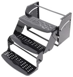 "Flexco Manual Pull-Out Steps for RVs - Triple - 9"" Drop/Rise - 24"" Wide - 350 lbs"