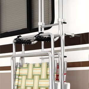 Surco Lawn Chair Rack for Vans and RVs - Ladder Mount & Lawn Chair Racks RV Cargo | etrailer.com