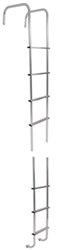 "Surco Universal Exterior RV Ladder w Center Hinges for Contoured Rear Wall - 97"" Long - 150 lbs"