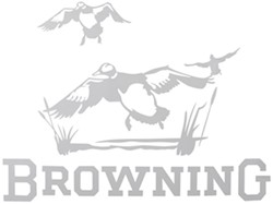 Browning Wildlife Scene Flat Decal - Ducks - White