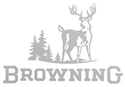 Browning Wildlife Scene Flat Decal - Whitetail - White