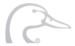 Ducks Unlimited Flat Decal - White