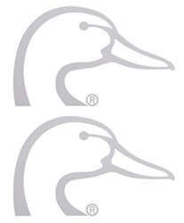 Ducks Unlimited Logo Flat Decals - White - Qty 2