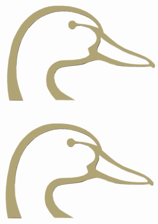 Ducks Unlimited Logo Flat Decals Gold Qty 2 Spg