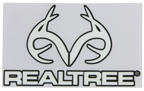 Realtree Outfitters Flat Logo Decal White Qty 1 Spg