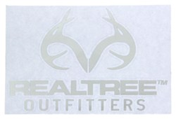 Realtree Outfitters Logo Flat Decal - Chrome-Plated - Qty 1